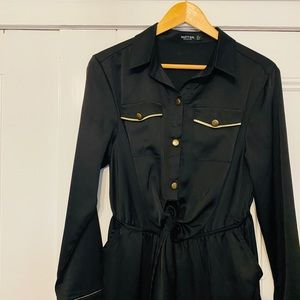 Nasty Gal Pants & Jumpsuits - Nasty Gal Black & Gold Jumpsuit